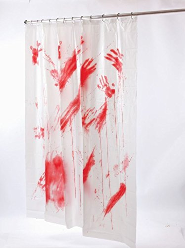 BLOOD BLOODY SHOWER CURTAIN SCARY BATES PSYCHO MOTEL CRIME SCENE HALLOWEEN PROP Calendar Cover Ups Umbrella