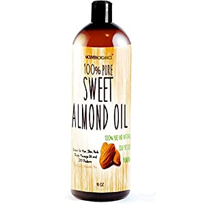 Sweet Almond Oil - Molivera Organics 16 oz. Premium, Grade A, Cold Pressed, 100% Pure Best Natural Oil for Hair, Skin, Scalp and Massage Carrier Oils - Perfect for DIY Hair,Skin & Acne products - Great for Aromatherapy - UV Resistant BPA free bottle - 100