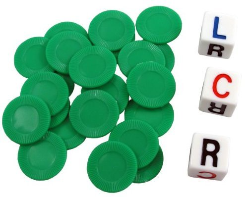 LCR - Left Center Right - Family Dice Game - GREEN - 1