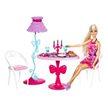 Barbie Glam Dining Room Furniture and Doll Set