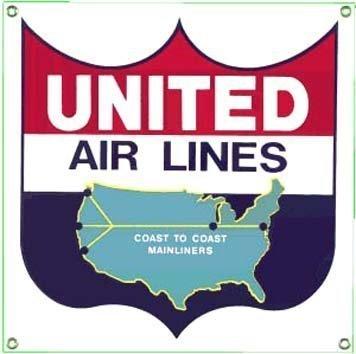 united-airlines-acier-emaille-aimant-de-refrigerateur