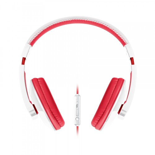 Urban Beatz Tempo Headphone With Mic - White/Red (M-Hm705)