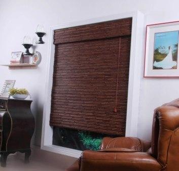 Randa Auburn Bamboo Roman Shade - Free Shipping, 29x54