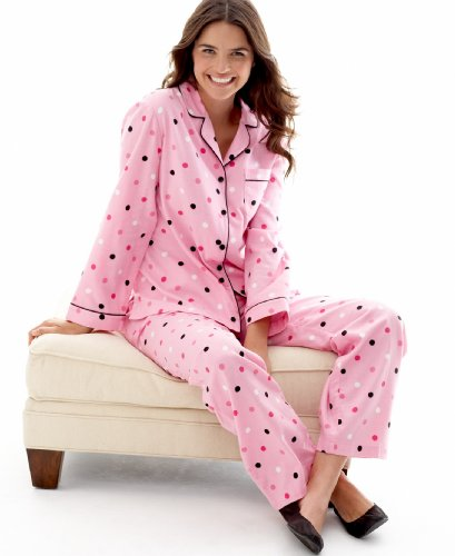 Charter Club Pajamas, Bright Nights Flannel Button Front