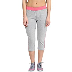 Ajile by Pantaloons Women Regular Fit Capri (205000005542717, Grey, Large)