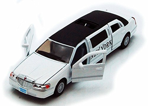 1999-new-york-lincoln-town-car-stretch-limousine-white-kinsmart-7001wny-1-38-scale-diecast-model-toy