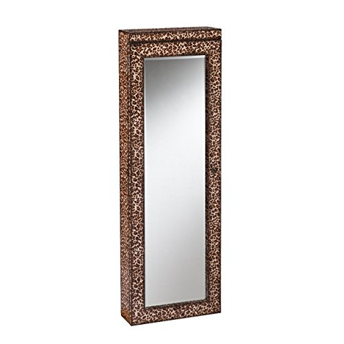Sei Pacific Lighted Jewelry Mirror, Leopard Print