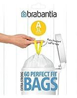 Brabantia 348983 Distributeur de Sacs Poubelles Poignées Coulissantes 3 L Blanc