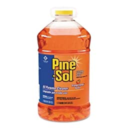 Pine-Sol All Purpose Cleaner - Liquid Solution - 144 fl oz (4.5 quart) - 3 / Carton - Orange Scent - Orange