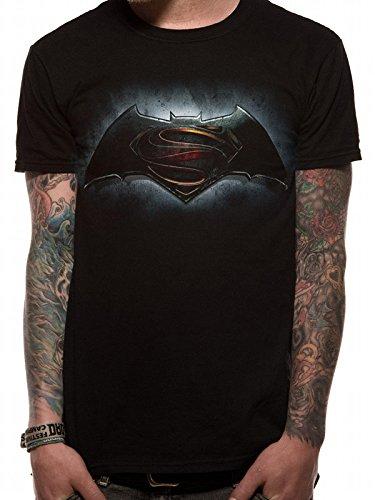Ufficiale di v, Logo Superman Batman-Maglietta da uomo, colore: nero nero medium