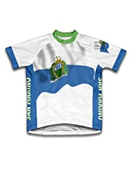 San Marino Flag Short Sleeve Cycling Jersey for Women