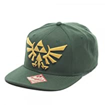 Nintendo Legend of Zelda Triforce Logo Green Snapback Hat