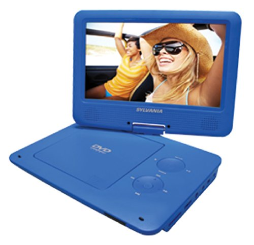 Read About Sylvania 9-Inch Swivel Screen Portable DVD/CD/MP3 Player with 5 Hour Built-In Rechargeabl...