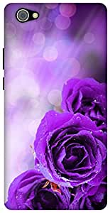 The Racoon Lean printed designer hard back mobile phone case cover for Vivo X5 Pro. (dewy petal)