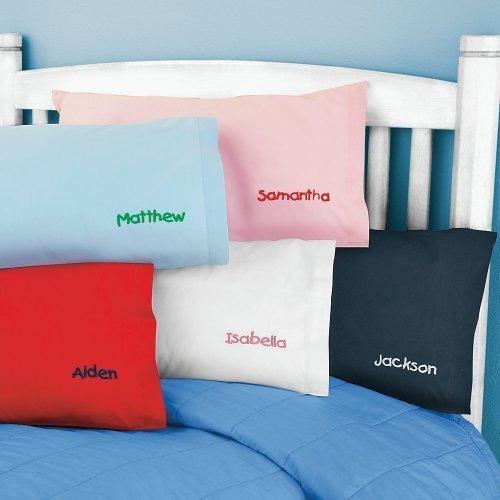 Kids Pillow Cover Pink Poplin