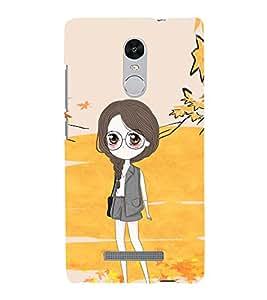 Cute Girl with Specs 3D Hard Polycarbonate Designer Back Case Cover for Xiaomi Redmi Note 3 :: Xiaomi Redmi Note 3 (3rd Gen)