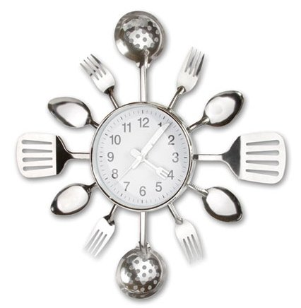 Kitchen Utensils Clock