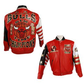 Jacket Bulls Leather 6-Time Champions at Amazon.com