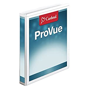 Cardinal ProVue Non-Stick Concealed Rivet Round Ring Binder, 1-Inch, White (CRD31300)