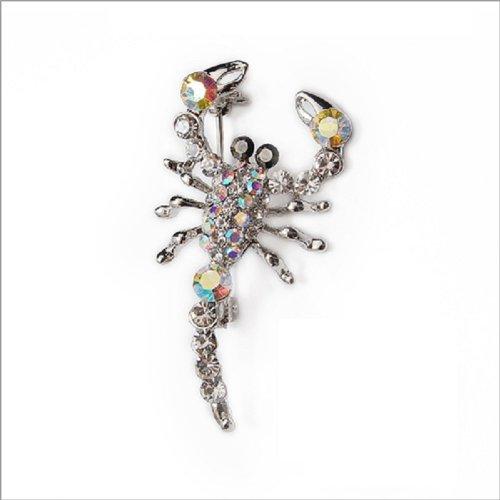 Fashion Trendy Lobster Crystal Brooch #011558