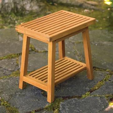 Pleasing New Grade A Teak Wood Bath Stool Or Side Table Or Shower Inzonedesignstudio Interior Chair Design Inzonedesignstudiocom