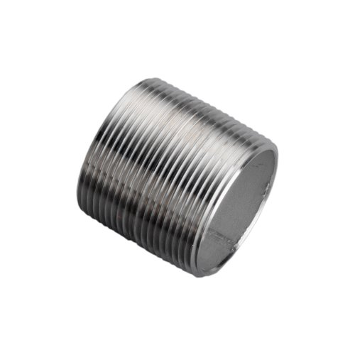 "Stainless Steel 304/304L Pipe Fitting, Nipple, Schedule 40 Welded, 1/2"" X Close NPT Male"