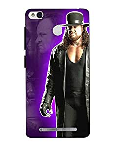 Case Cover Undertaker Printed Black Hard Back Cover For Xiaomi Redmi 3S