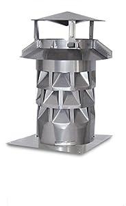 Schornsteinhaube / Kaminhut / Schornsteinabdeckung Kaminkraft V2A DN 180 mit Grundplatte   Kritiken und weitere Informationen