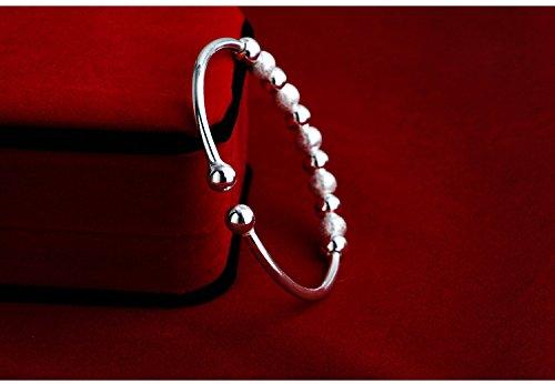 Skyllc® Le transfert de femmes chanceuses Perles argent 925 sterling Bracelet
