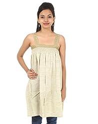 Rajrang Design Long Ghi Khadi Kurta Lace Work Size M