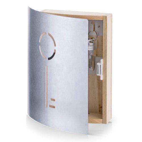 zeller-13846-appendichiavi-in-faggio-ed-acciaio-inox-215-x-55-x-245-cm