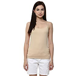 Ajile by Pantaloons Women's Casual Solid Camisole (205000005573147_Beige_ M)
