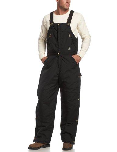 Carhartt Men's Yukon Arctic Quilt Lined Zip to Waist Biberalls,Black,38 x 30