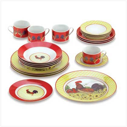 Buy Country Rooster Dinnerware Set – 20 Piece