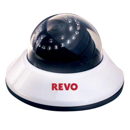 Revo Rcds30-2 Indoor Dome 600Tvl Super High Resolution Camera - Rj12/Bnc Type 80-Feet Nightvision