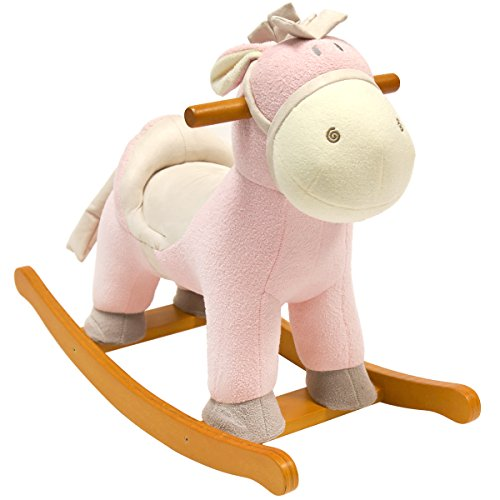 bentley-kids-cheval-a-bascule-enfant-rose