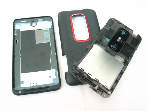 HTC EVO 3D Sprint ~ Black Housing Cover Door Case Frame Fascia Plate ~ Mobile Phone Repair Parts Replacement (Htc Phone Parts compare prices)