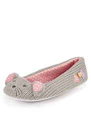 M&S Collection Mouse Ballerina Slippers