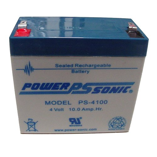 Power-Sonic 4V/10AH Sealed Lead Acid Battery w/ F1 Terminal (4 Volt Sealed Lead Acid Battery compare prices)