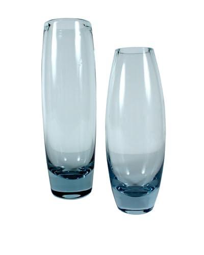 Set of 2 Holmegaard Hellas & Akva Vases, Blue