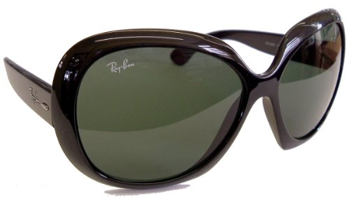 Ray Ban RB4098 Jackie Ohh II Sunglasses, 601/71 Black (Gray Green Lens), 60mm – Deluxe Kit