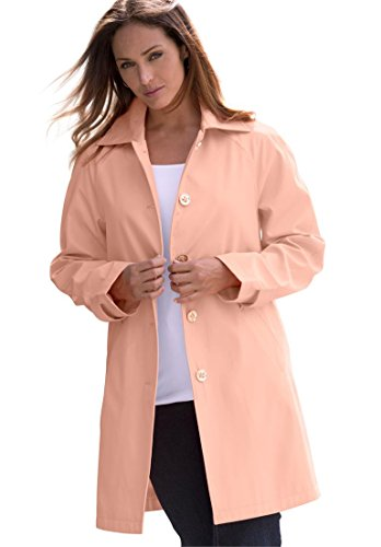 Jessica London Womens Plus Size Short Trench Coat