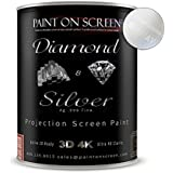 Paint On Screen Projector Screen Paint S1 Screen Plus SIlver - Gallon Diamond And Silver - Gallon