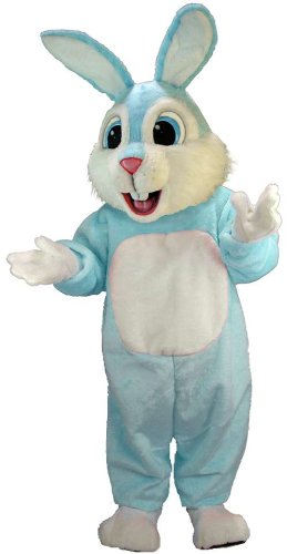 Light Blue Rabbit Lightweight Mascot Costume
