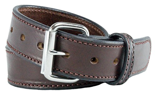 The Ultimate Concealed Carry CCW Leather Gun Belt - 2016 Model - New and Improved -14 ounce 1 1/2 inch Premium Full Grain Leather Belt - Handmade in the USA! Brown Size 40 (Kydex Mag Insert compare prices)