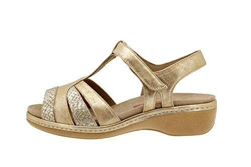Scarpe donna comfort pelle Piesanto 4819 sandali soletta estraibile comfort larghezza speciale