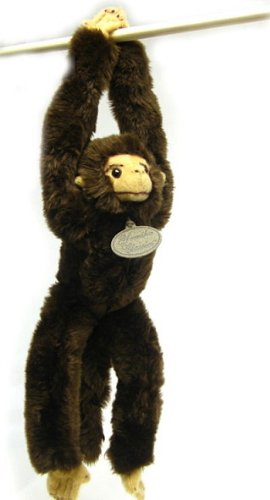 "Yomiko Classic Hanging Chimpanzee with Sound 14"" by Russ Berrie - 1"