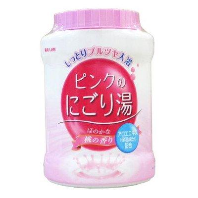 ピンクのにごり湯 桃の香り