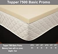 2ft6 3ft 4ft Small 4ft6 5ft And 6ft Memory Foam Toppers Available In 2'' 3'' And 4'' (4'' Super King Size 6ft Memory Foam Topper)