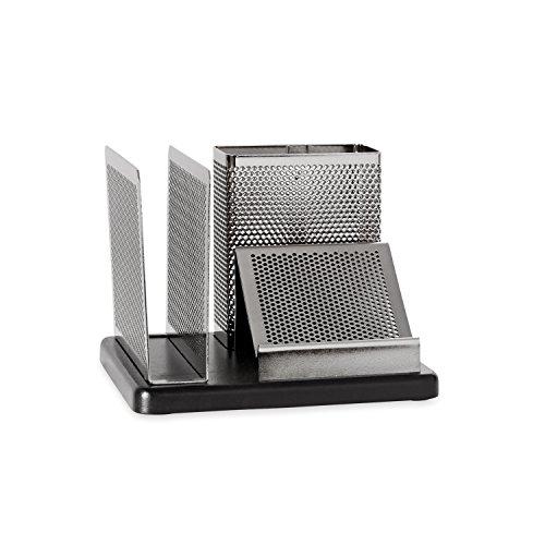 Distinctions Desk Organizer, 5 7/8 x 5 7/8 x 4 1/2, Metal/Black, Sold as 1 Each